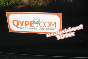 Qype-Deutschland-Tour Aufkleber
