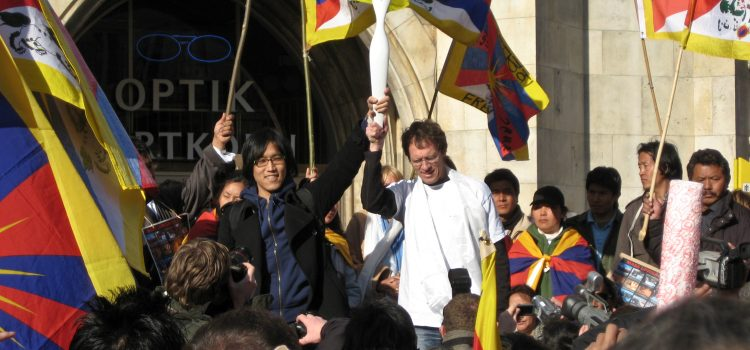 Tibetan Freedom Torch Relay am 10. März 2008
