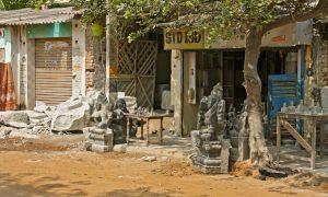Ankunft in Mahabalipuram