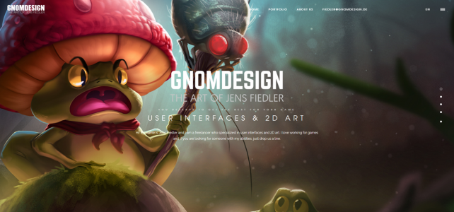 Gnomdesign Webseite 2017