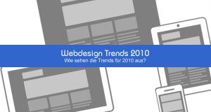 Webdesign Trends 2010