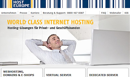 Webhosting: Host Europe GmbH