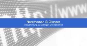 Netzthemen, Glossar und Netzpolitik