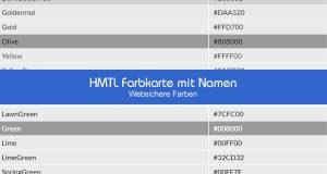 HMTL Farbkarte
