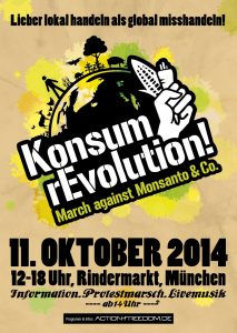 Konsum rEvolution! March Against Monsanto – München am 11. Oktober 2014