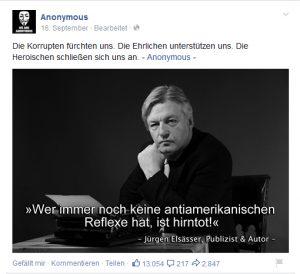 Fake Anonymous-Kollektiv als Elsässer-Fan