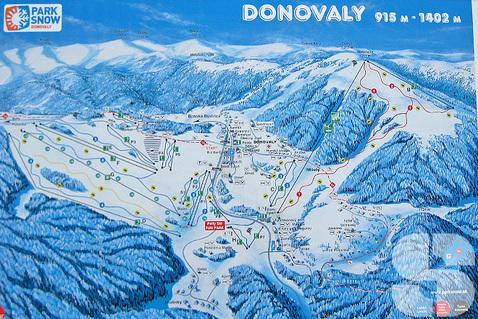Karte vom Skigebiet Donovaly