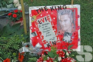Die Elvis-Stele in Bad Nauheim
