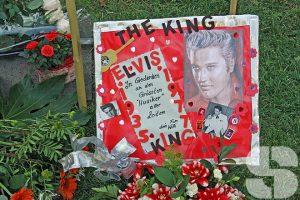 Die Elvis-Stele in Bad Nauheim