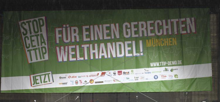 Demo Stop CETA & TTIP am 17.09.2016 in München