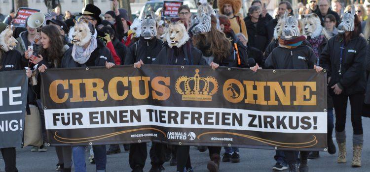 Mega-Demo für tierfreien Zirkus am 25.02.2017