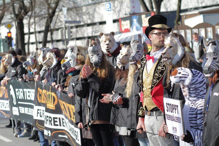 Mega-Demo für tierfreien Zirkus in München (25.02.2017)