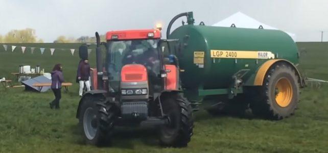 Pissed Off Farmer Sprays Poop